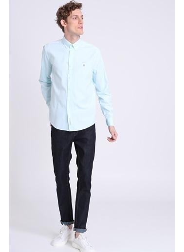Lufian Slim Fit Uzun Kollu Gömlek Yeşil